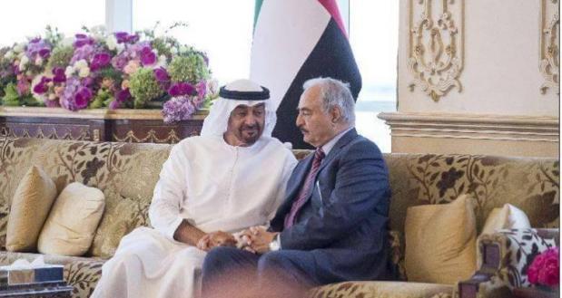 Commandant Général des Forces Armées Libyennes « le Maréchal Hufter » visiter les Émirats Arabes Unis,  ___ 10_04_2017.
