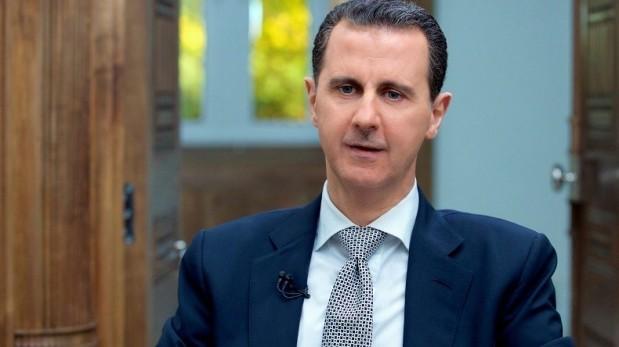 Le président de la Syrie répondant aux journalistes de l'AFP _ Bachar el-Assad: l'attaque chimique est «une fabrication à 100%»  .   ______ 13_04_2017.