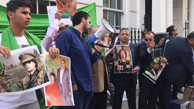 Communauté Libyenne Londres manifestations dénoncer le#Qatar ladestruction de la #Libyeet financement du terrorisme __ CPI d'abandonner les charges contre le Dr Saïf Al-Islam Mouammar Kadhafi qui bénéficie de la Loi d'Amnistie Générale _  01.07.2017.  ___ 11_07_2017.