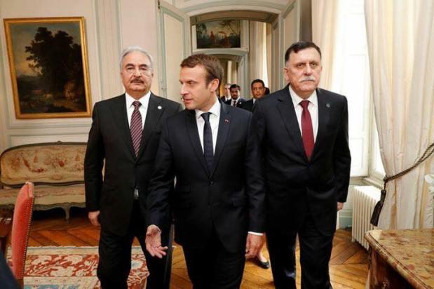 Pourparlers Libyens avec laPrésidence Françaiseà #Paris #Khalifa Hufter #Al-Sarraj  ____________ 25_07_2017.